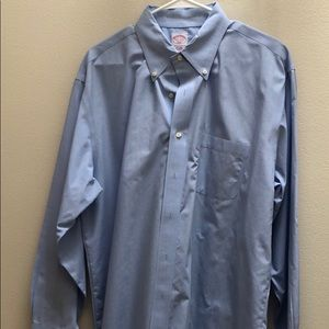 Brooks Brothers, Blue, 17.5 34/5 button down